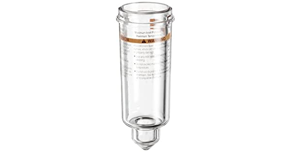 Parker PS946P Polycarbonate Bowl with No Drain for 15L Series Lubricator 2oz Capacity 150 psig