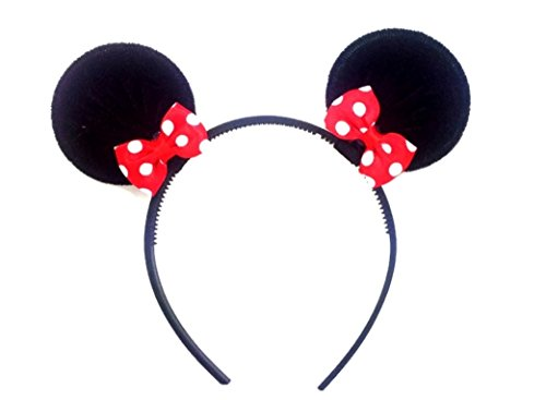 Price comparison product image MeeTHan Disney Mickey Mouse Minnie Mouse Ears Headband Costume Accessory :M2 (Mickey Black)