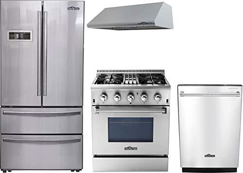 Thor Kitchen 4-Piece Stainless Steel Kitchen Package HRF3601F 36