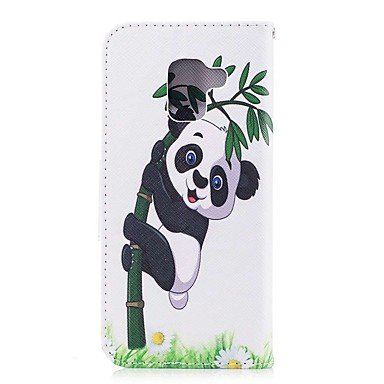 Casos hermosos, cubiertas, Funda Para Samsung A8 2018 A5(2017) Soporte de Coche Cartera con Soporte Flip Magnética Funda de Cuerpo Entero Oso Panda Dura Cuero de PU ( Modelos Compatibles : Galaxy A5(2 Galaxy A8 2018