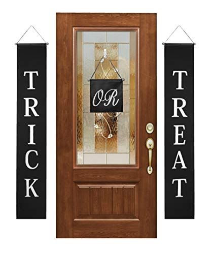 Besti Trick or Treat Banner Halloween Decorations (3-Piece Set) Indoor and Outdoor Door Hanging Decor | Cute Home or Office Display | Easy to Hang, Reusable Design -