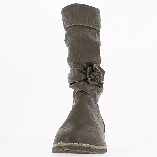 Stiefel Frauen Brown Ferse 2cm
