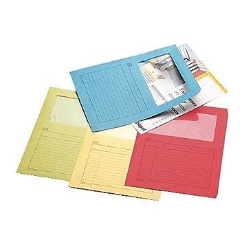Unipapel 961513000 - Caja de 25 subcarpetas, ventana pequeña, A4, 120 g, amarillo, 1 unidad: Amazon.es: Oficina y papelería