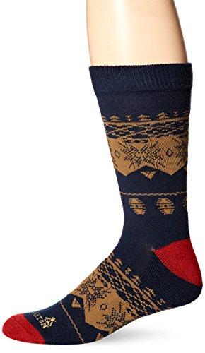 Socks Mens Nordic (Pendleton Men's Camp Crew Socks, Nordic - Navy, Large (Sizes 9-12))