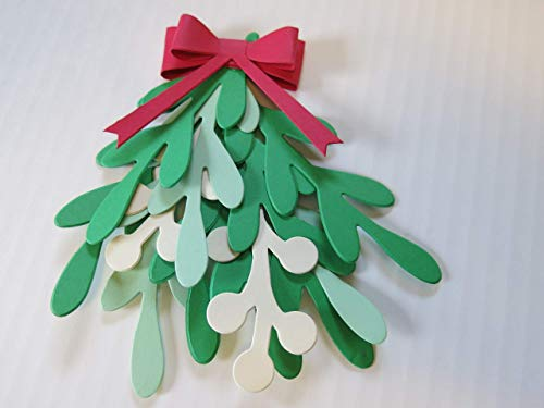 Hanging Mistletoe, High Quality Paper, Reusable Christmas Holiday Decorations, Doorway Archway Decor