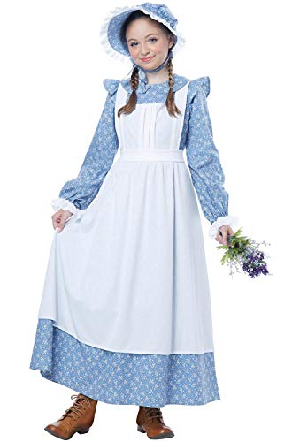 Oregon Trail Halloween Costume (California Costumes Pioneer Girl Child Costume, Blue,)