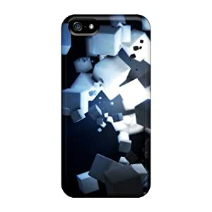 For ScoDBke Iphone Protective Case, High Quality For Iphone 5/5s Cubes Skin Case Cover