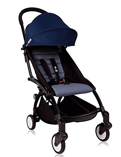 BabyZen 2018 Yoyo + Stroller Black Frame / Air France Blue (Rain Cover Included!) by Baby Zen