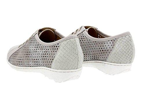 7bf1e6b4 ... Calzado mujer confort de piel Piesanto 1752 Zapato Cordón cómodo ancho  Mamba Perla ...