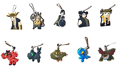 Astrid Dragon 2 Costume (AVIRGO 10 pcs Metal Clothes And Bags Decoration Zipper Pull Keyring Carabiner Set # 55-2)