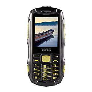 Generic Y809A Triple Proofing Phone, Dual SIM, IP67 Waterproof Shockproof Dustproof, 2.4 inch, SC6531CA Chipset, 21 Keys, LED Flashlight, FM, TF, Bluetooth(Black)