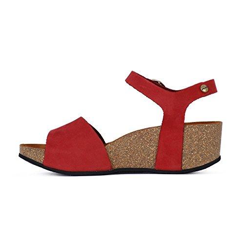 FRAU - Sandalias de vestir para mujer Rojo