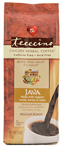 Teeccino Java Chicory Herbal Coffee Alternative, Caffeine Free, Acid Free  11 Ounce (Pack of 3)