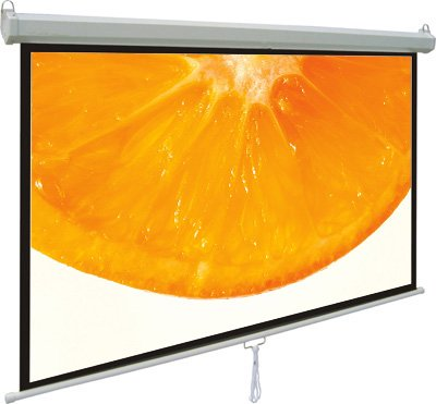 "VIVO 119"" Projector Screen 84"" X 84"" 1:1 Mountable Projection HD Manual Pull Down Home Theater (PS-M-084)"