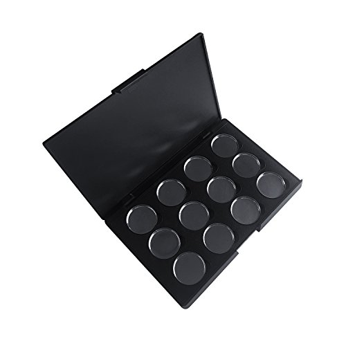Empty Palette - Allwon Empty Magnetic Eyeshadow Makeup Palette with 12Pcs 26mm Round Metal Pans