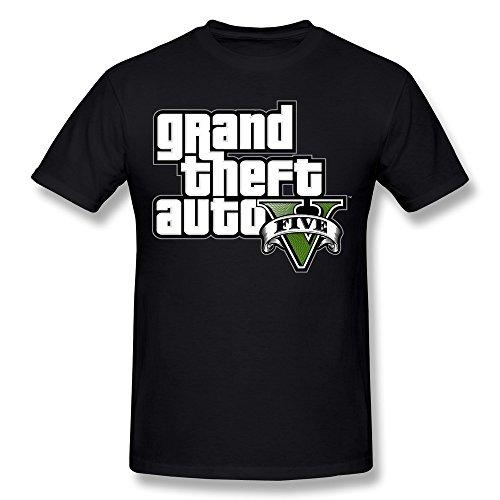 LOOIN Men's GTA V Logo T-Shirt Black