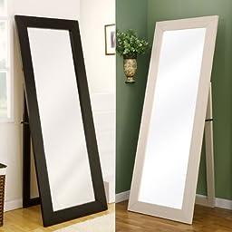 Toby Contemporary Style Black Finsh Floor Mirror