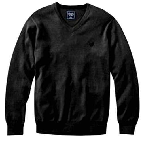 Chaps Mens Cashmere Blend V-Neck Sweater Charcoal Grey Sz Small -
