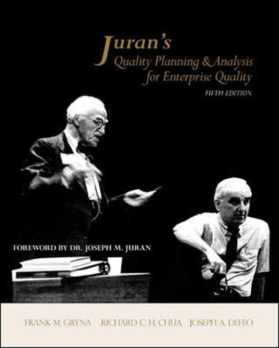 Juran's Quality Planning and Analysis for Enterprise Quality (McGraw-Hill Series in Industrial Engineering and Managemen