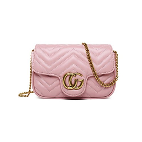 Bag Cross Career Chain Gold Body Fashion Bag Type Classic Evening V Purse Mini Street Bags Pink 2018 Handbag Shoulder OL Bag wfB8C