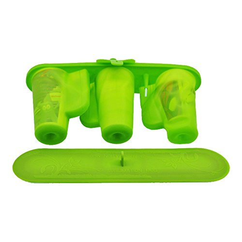 3D Sublimation 3 in 1 Silicone Mug Wrap for 12 and 17 OZ Cone Mugs, Silicone Mold Mug Clamps (in China Warehouse)