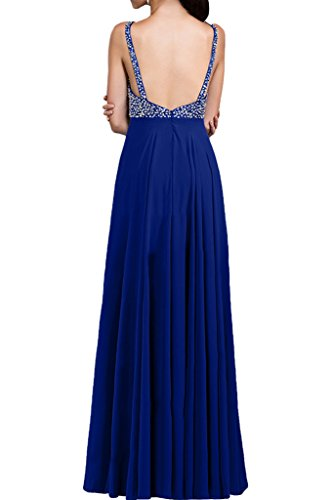Victory Bridal Glamour Royal Blau Meerjungfrau Herzform Abendkleider Promkleider Spitze Applikation Bodenlang -48 Royal Blau