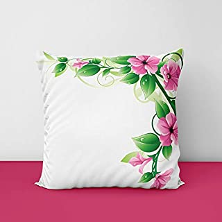 41IQKzPo6LL. SS320 Painting Flower Square Design Printed Cushion Cover