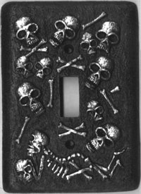 Cool Scattered Skulls Light Switch Cover Plate (Jeweled Light Switch Cover)