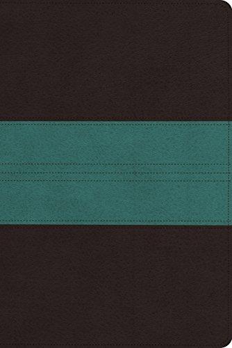 ESV Personal Reference Bible (TruTone, Dark Brown/Teal, Trail Design) (Design Trutone Esv Diamond Bible)