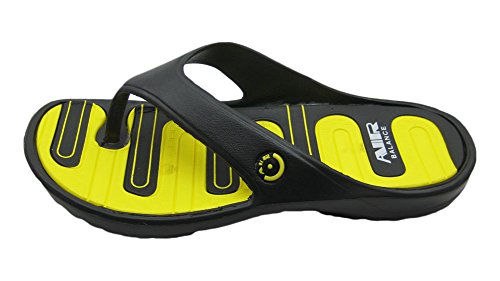 Air Ljus Och Bekväma Mäns Elegant Dusch Strand Sandal Tofflor Svart / Gul Flip Flop