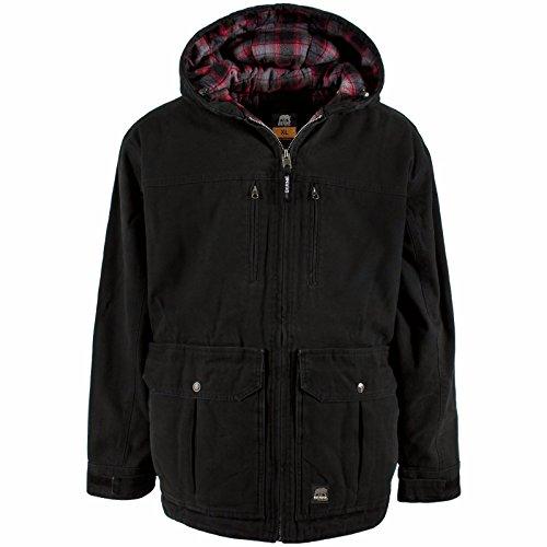 Berne Mens Echo One Concealed Carry Jacket (Black 5X-T) (Berne Mens Concealed Carry Echo One One Jacket)