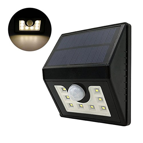Solar Security Lights,8 LEDs Solar Lights Outdoor, Solar Motion Sensor Lights,Waterproof Security Lights for Outdoor Wall,Back, Yard,Fence,Garage,Garden,Driveway (warm light) by LianLe