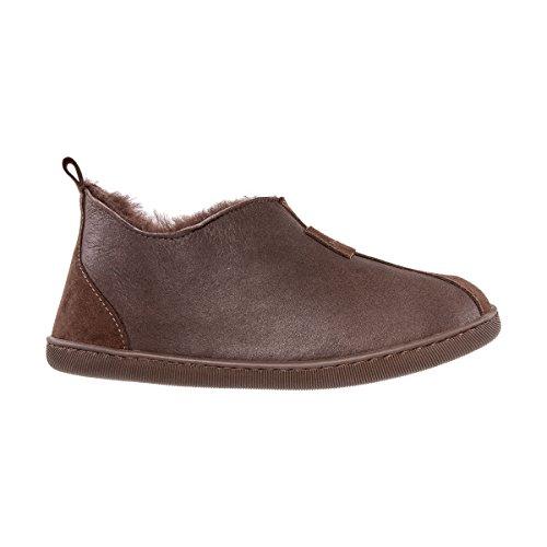 Schlappen Pantoffeln Echtleder Damenschuhe Damen Vanuba Wolle Harz Braun Leder Schuhe Lammfell Braun xTq7XCg