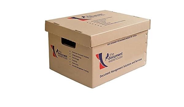 El almacén de documento archivo Cajas de almacenamiento (Pack de 20): Amazon.es: Oficina y papelería