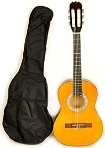 Guitarra clásica acústica 1/2 tamaño (34 cm) W/bolsa de transporte ...