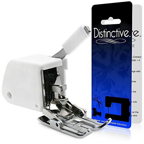 Distinctive Even Feed Walking Sewing Machine Presser Foot - Fits All Low Shank (Top-Loading Drop-In Bobbin Machines Only) Singer, Brother, Babylock, Janome, White, Juki, New Home, Necchi, Elna + More!