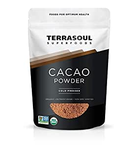 Terrasoul Superfoods Organic Cacao Powder, 1 Pound