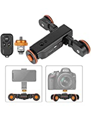 Neewer Motorized Camera Video Dolly with Scale Indication Electric Track Skater with Straight Line/Curve/Pitch Shooting Wireless Remote Control 3 Speed Adjustable for Canon Nikon Sony DSLRs and Phones