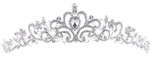 Women's Elegant Rhinestone Wedding Bridal Tiara Crown, Big (Princess Bride Halloween)