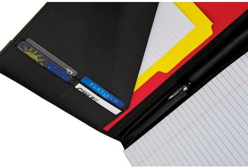 Case-it Executive Padfolio with Letter Size Writing Pad, Black, PAD-10 by Case-It (Image #5)