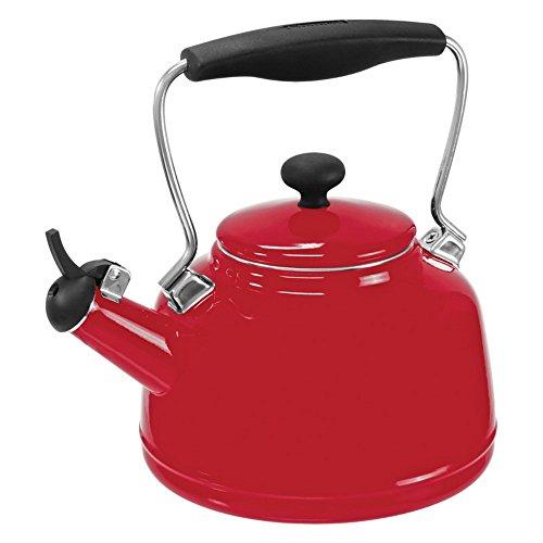 Chantal 37-VINT RE Enamel on Steel Vintage Teakettle, 1.7 quart, Red (Vintage Red Tea Kettle compare prices)