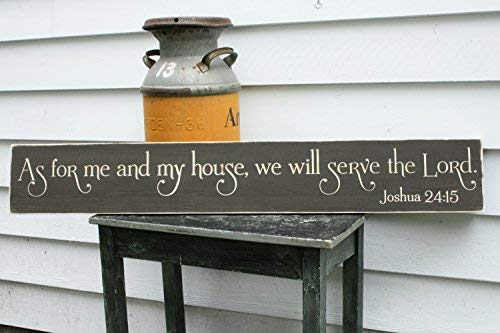 weewen As for Me and My House We Will Serve The Lord Large 8X48 Housewarming Wood Signs for Home Decor Quote Garden Plaque Sign from weewen