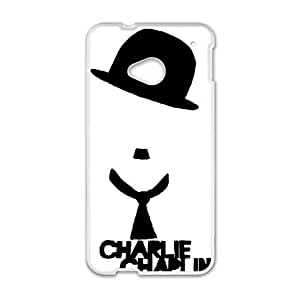 HTC One M7 Cell Phone Case White Charlie Chaplin HKJ Cell Phone Case For Girls Unique