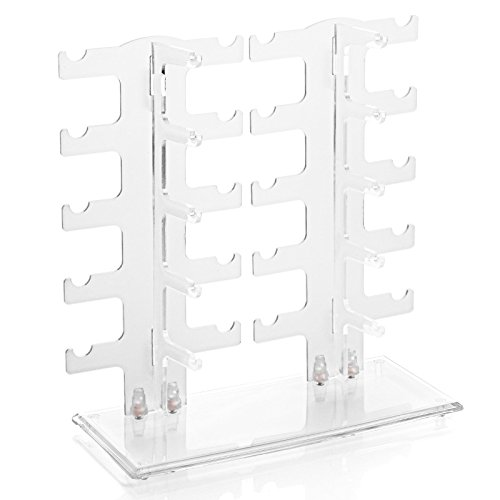 jenifer2015 Sunglasses Glasses Acrylic Crystal Clear Display Retail Show Stand Holder - For Rack Home Holder Sunglass