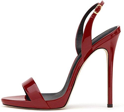 Sandali con elashe della Sandali Cintura da 12CM Tacco Bord della Caviglia Scarpe Sandali Donna Alto IT4Txq1rzw