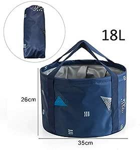 aseo port/átil para uso al aire libre pesca de viaje senderismo para acampadas Hooyee multifuncional Cubo plegable