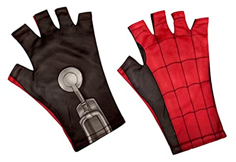 Rubie's Spider-Man: Homecoming Homemade Suit Adult Fingerless Gloves, One Size - Authentic Spider Man Costume Accessories