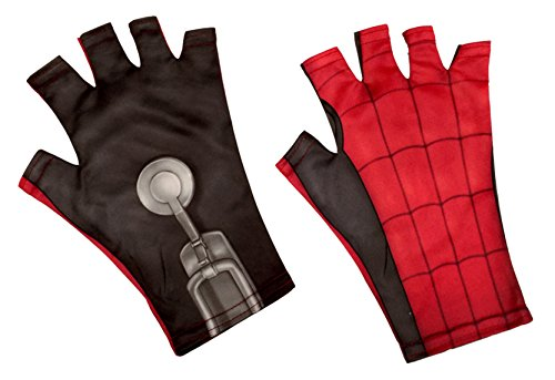 Homemade Costumes Halloween Adult (Rubie's Spider-Man: Homecoming Homemade Suit Adult Fingerless Gloves, One Size)
