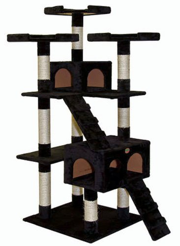 Go Pet Club Cat Tree, 33-Inch by 22-Inch by 72-Inch, Black, My Pet Supplies