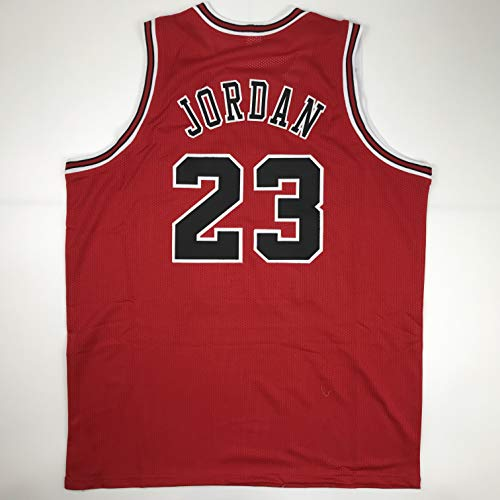 (Unsigned Michael Jordan Chicago Red Custom Stitched Basketball Jersey Size Men's XL New No Brands/Logos)